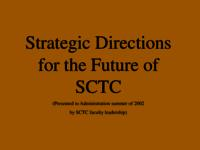 Strategic Directions for the Future of SCTC