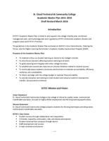 Academic Master Plan 2015-2019